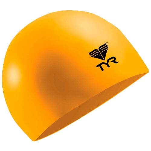 Шапочка для плавания Tyr Latex Swim Cap оранжевый - - LCL