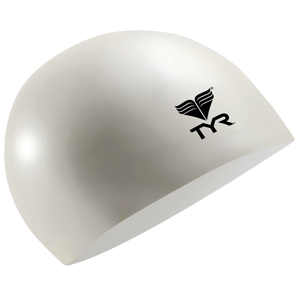 Шапочка для плавания Tyr Latex Swim Cap белый - - LCL