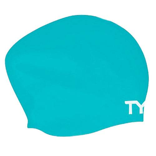 Шапочка для плавания Tyr Long hair wrinkle free silicone cap голубой - - LCSL
