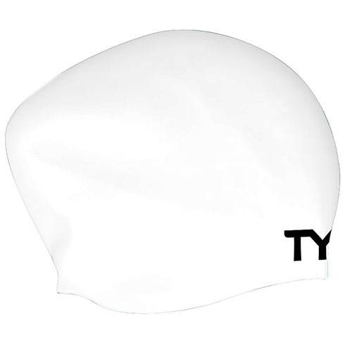 Шапочка для плавания Tyr Long hair wrinkle free silicone cap белый - - LCSL