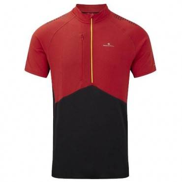 Футболка беговая Ronhill Trail ss zip tee with polygiene