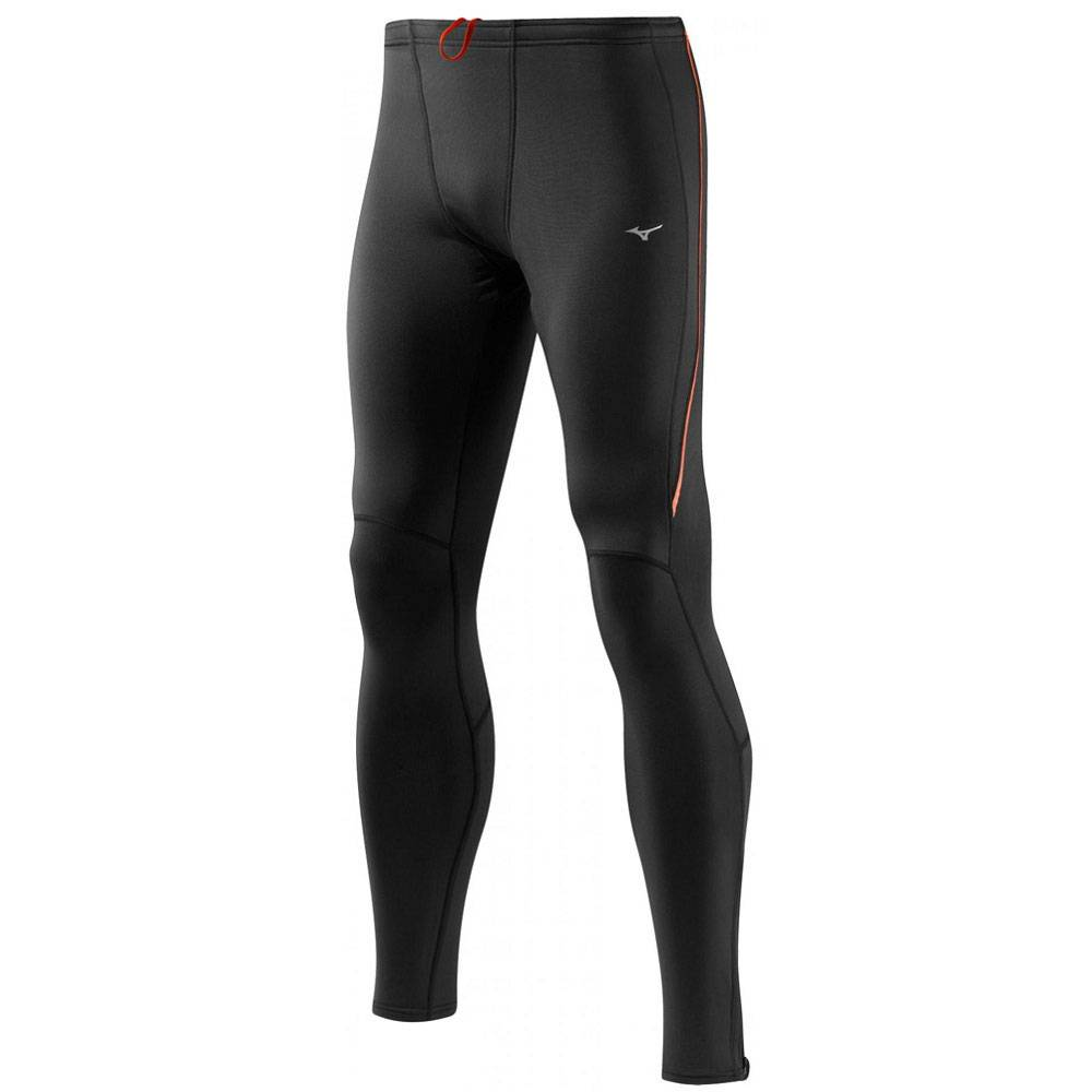 Термотайтсы Mizuno Breath Thermo Layered Tight SS14 черный - красный 67RT360