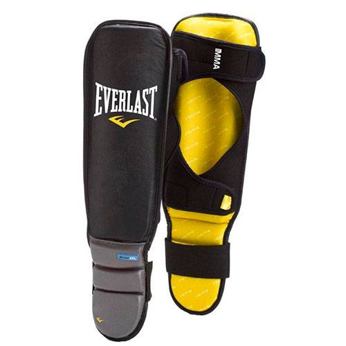 Защита голени Everlast Pro Stand-Up Shin In-Step Guards черный - серый 7950SMGLU