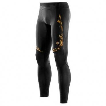 Тайтсы беговые Skins A400 Mens Gold Long Tights