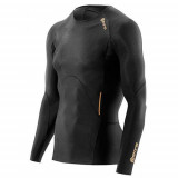 Рубашка беговая Skins A400 Mens Gold Top Long Sleeve
