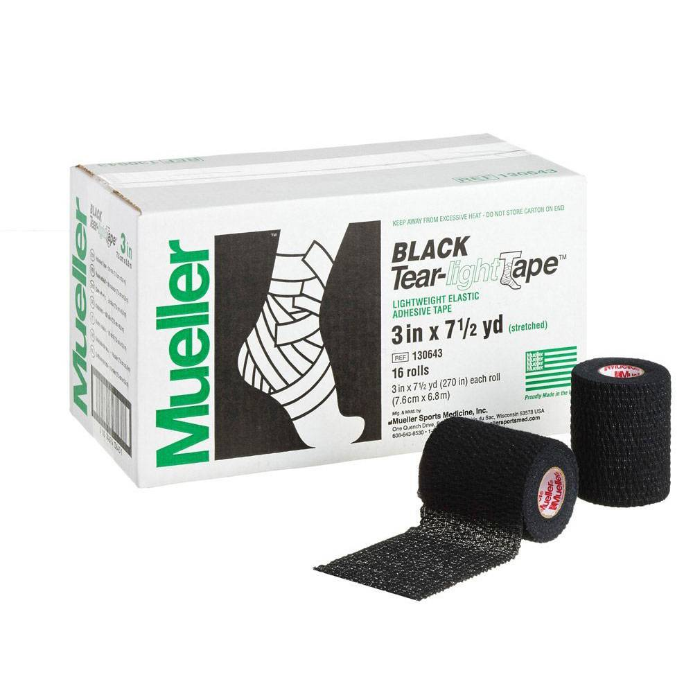 Тейп Mueller Tear-Light Black Tape 7,5 х 6,9 черный - - 130643