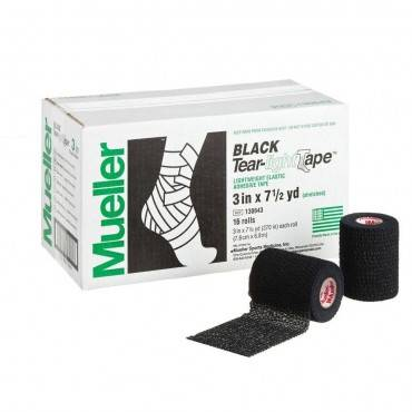 Тейп Mueller Tear-Light Black Tape 7,5 х 6,9