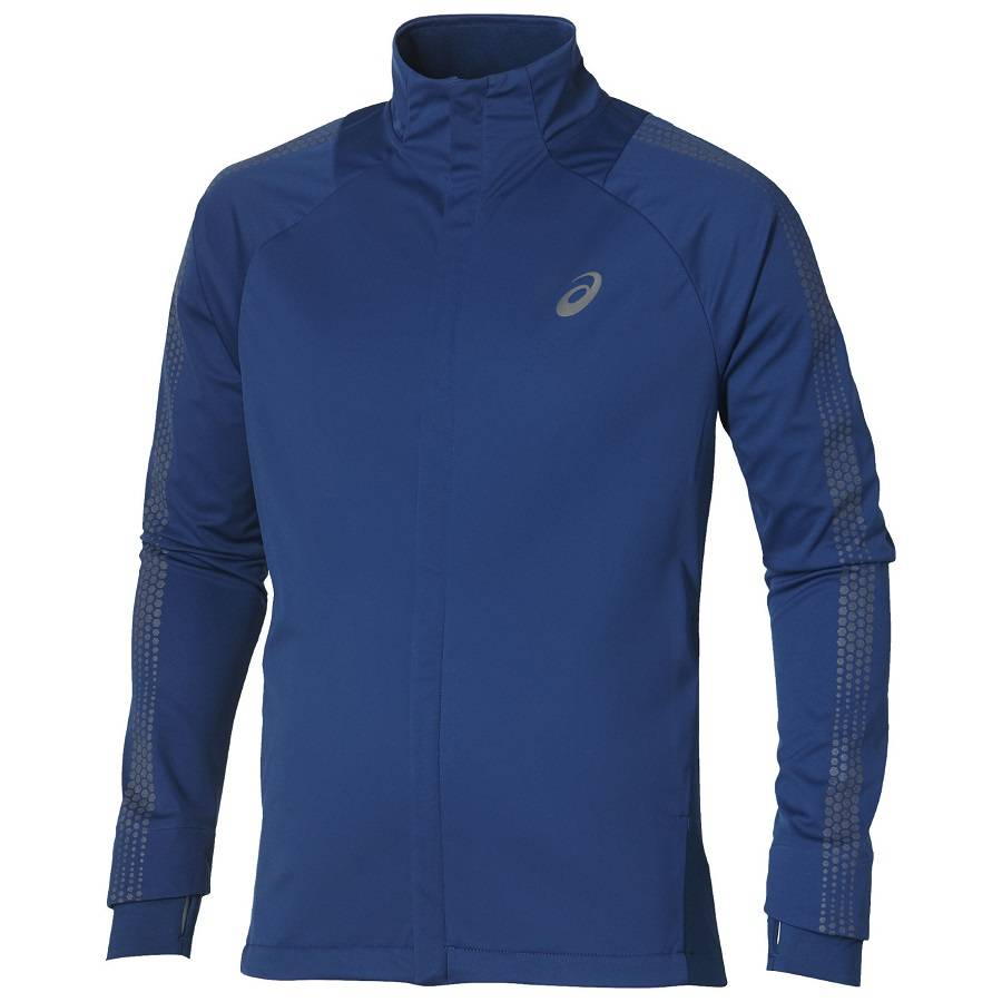 Ветровка беговая Asics Lite-Show Winter Jacket синий - - 134060