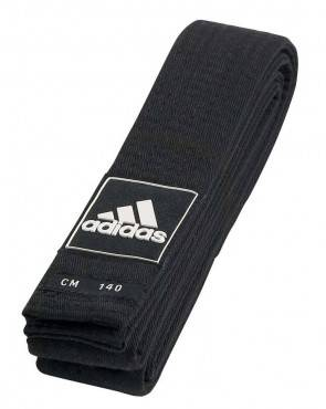 Пояс для кимоно тхэквондо Adidas Competition Black Belt 220 см
