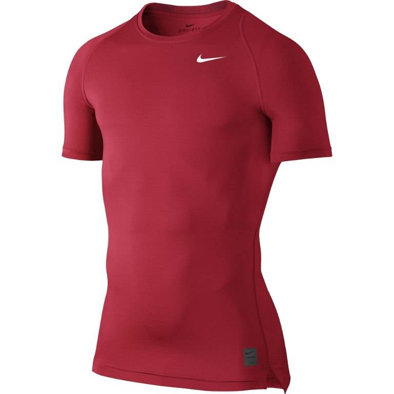 Футболка беговая Nike Pro Cool Compression бордовый - - 703094