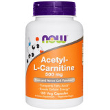 L-карнитин NOW Acetyl L-Carnitine 500 мг 100 капсул
