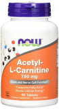 L-карнитин NOW Acetyl L-Carnitine 750 мг 90 капсул