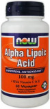Альфа-липоевая кислота NOW Alpha Lipoic Acid 100 мг 60 какпсул