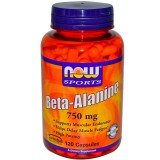 Бета-аланин NOW Beta Alanine 750 мг 120 капсул