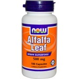 Люцерна NOW Alfalfa Herb 500 мг 100 какпсул