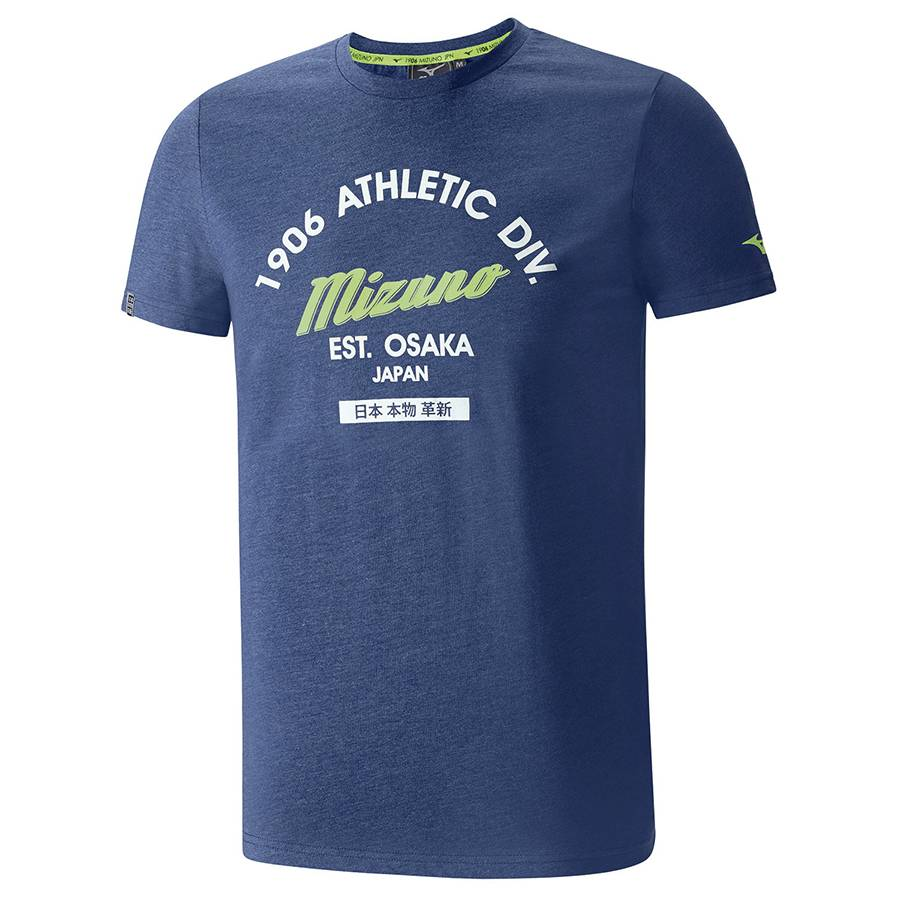 Футболка беговая Mizuno Authentic Tee темно-синий - - K2EA6090