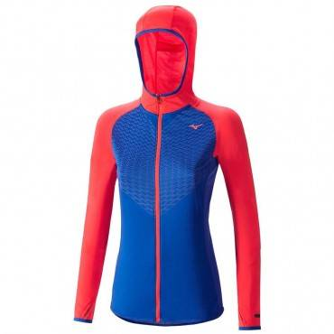 Ветровка беговая Mizuno Breath Thermo Body Mapping Hoody (женская)