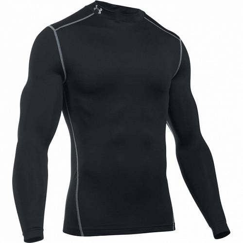 Рубашка компрессионная Under Armour ColdGear Armour Compression Mock LS Top, 1265648-001, черный цвет, XL размер