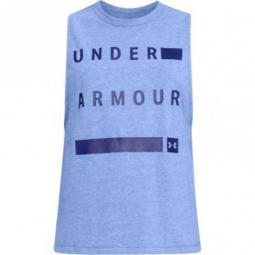 Майка Under Armour Muscle Tank Linear Wordmark (женская)