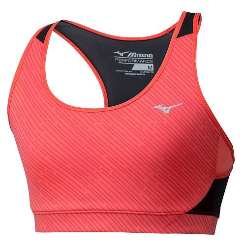 Топ беговой Mizuno Alpha Printed Bra Top (женский), J2GA9240-24, синий цвет, XS размер