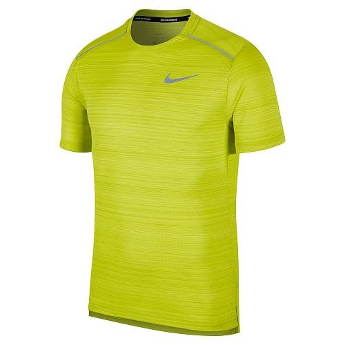 Футболка беговая Nike Dri-FIT Miler Short Sleeve Running Top, салатовый цвет, M размер